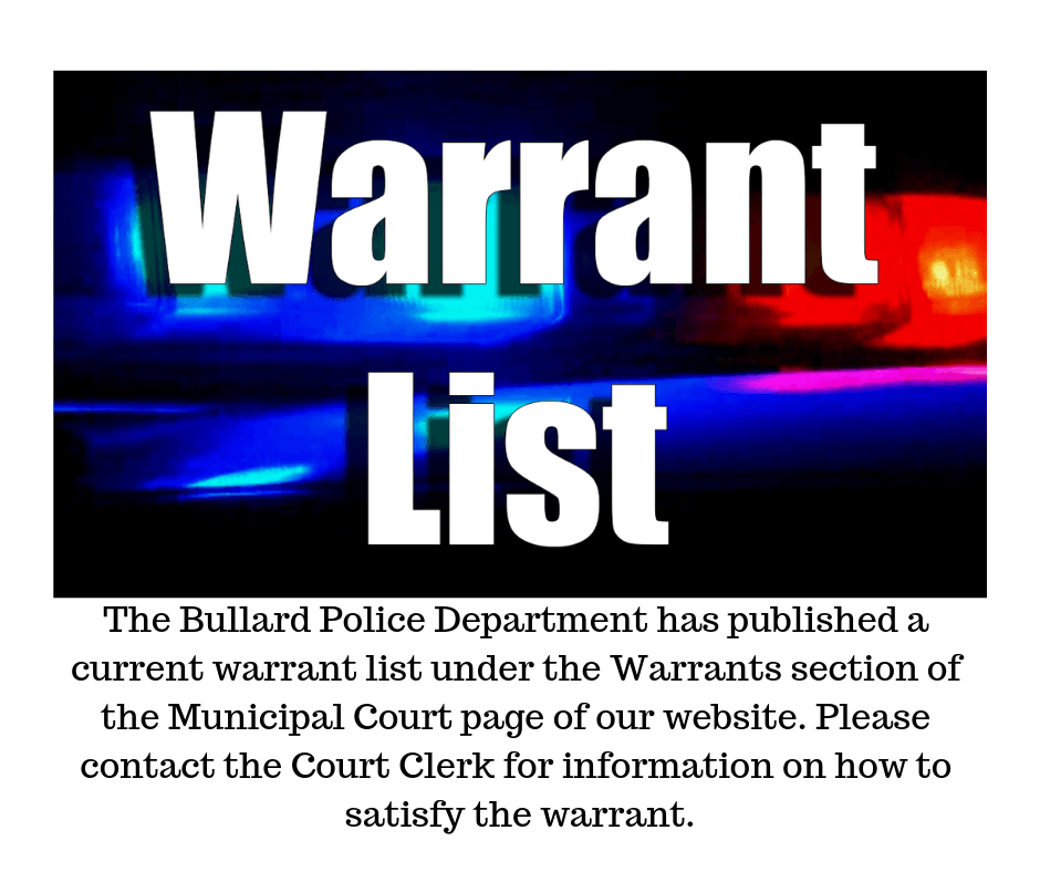 published warrant list 10-15-18