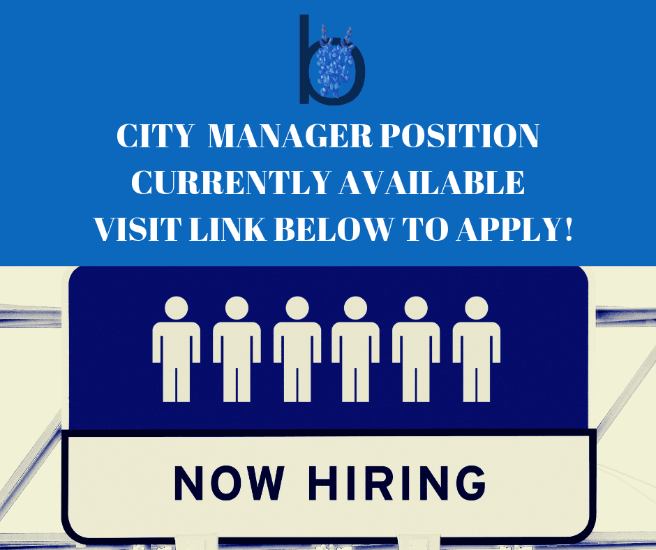 City Manager Position Available - Visit Link below to apply!