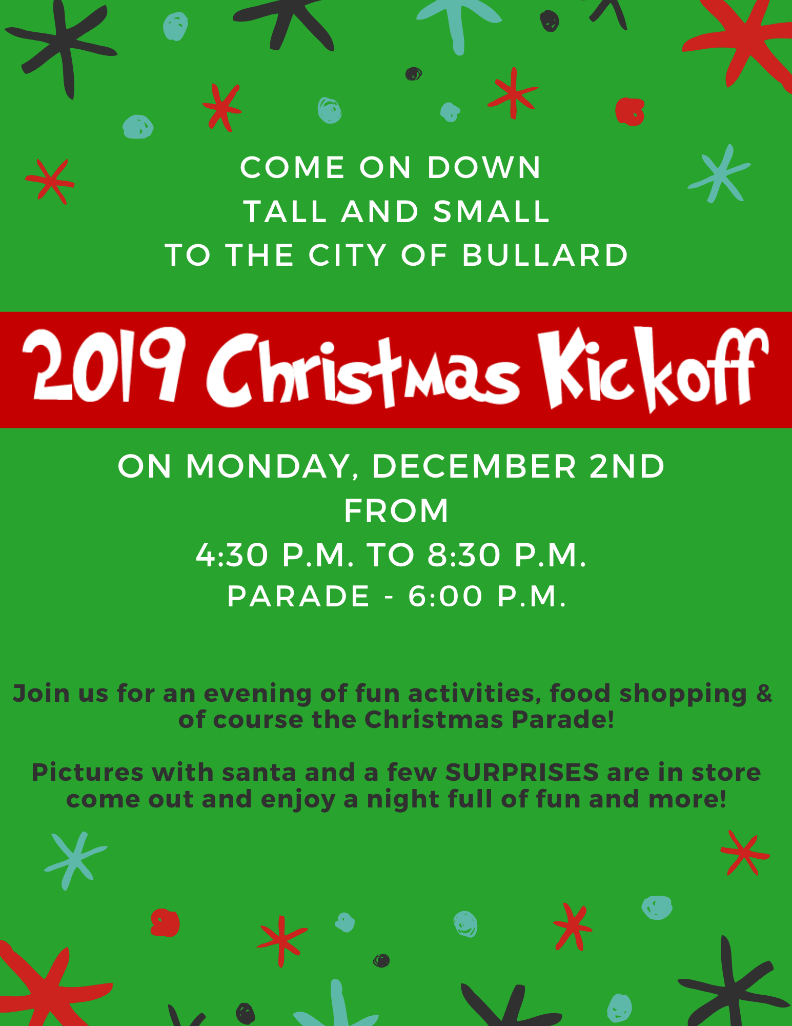 Christmas Kickoff 2019 Flyer