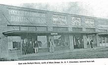 Historic photo of downtown shopping